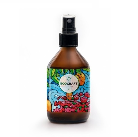 Cпрей-кондиционер для роста и против выпадения волос Манго и розовый имбирь | Ecocraft