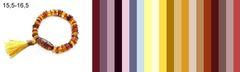 шпаргалка для подбору цвета одежды под браслет из разноцветного янтаря