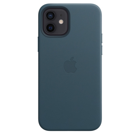 Apple Leather Case на iPhone 12/12Pro (Балтийский синий)