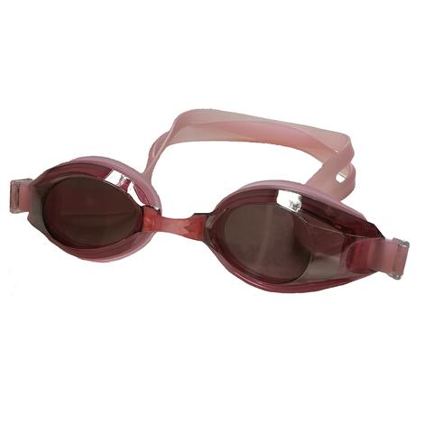 Очки для плавания Diapolo розовые с прозрачными линзами
