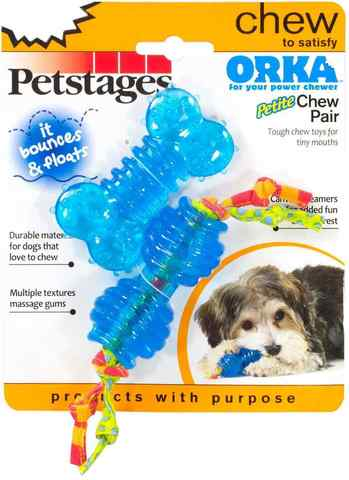 PETSTAGES ORKA BONE+DUMBBELL