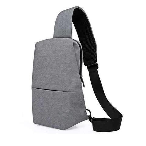 Рюкзак на одной лямке стильный KAKA 99009 серый