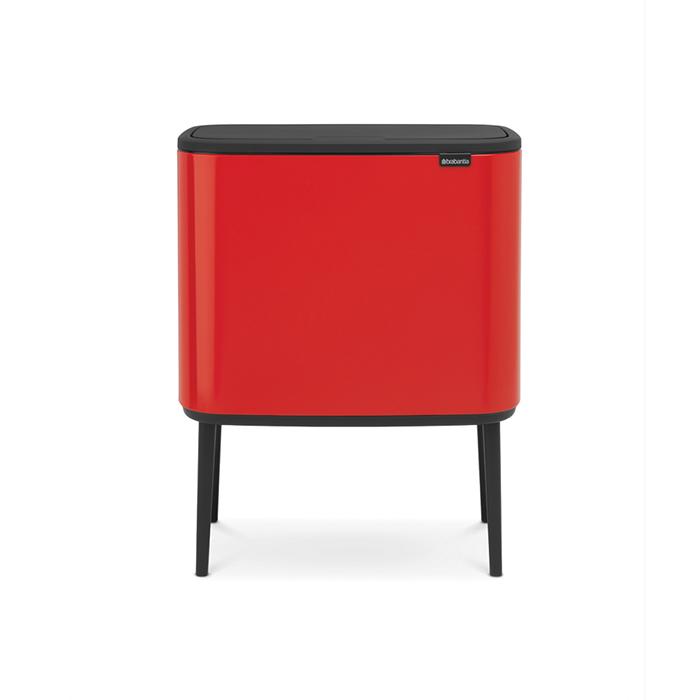 Мусорный бак Touch Bin Bo (3 х 11 л), Пламенно-красный, арт. 316005 - фото 1