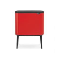 Мусорный бак Touch Bin Bo (3 х 11 л), Пламенно-красный