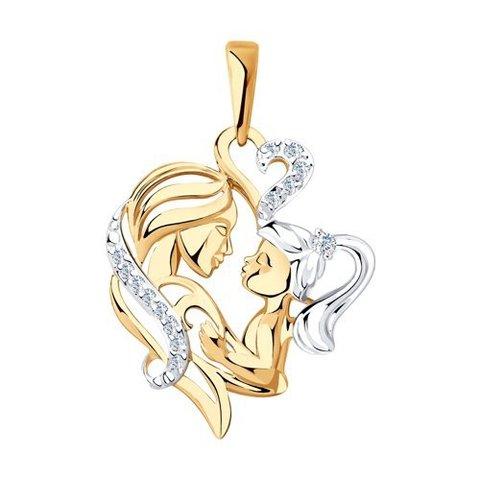 035568 - Подвеска из золота с фианитами