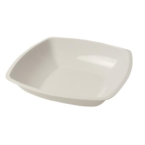 Тарелка одноразовая глубокая АВМ-Пластик пластиковая белая 18x18 см 12 штук в упаковке
