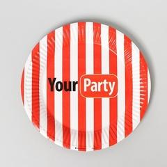 Тарелки бумажные, Your party, 18 см, 10 шт, 1 уп.