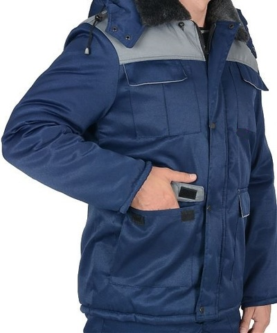 Куртка ПРОФЕССИОНАЛ Т. синий с серым