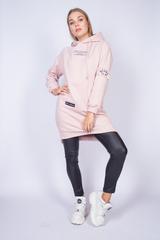 розовое худи с капюшоном недорого