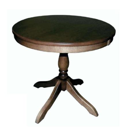 Стол обеденный Медведь деревянный круглый палисандр