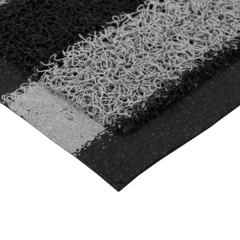 Коврик пористый, черно-серые полосы, 40*60 см