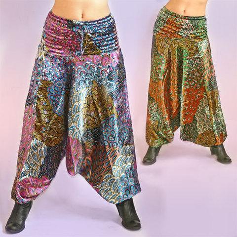 Штаны для йоги шёлк
