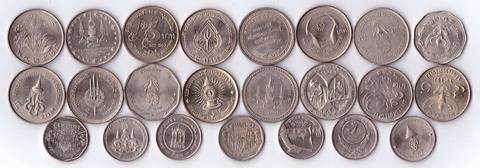 Набор из 23 монет 5 бат - Таиланд