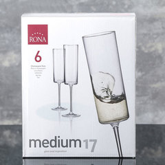Набор из 6 бокалов для шампанского Rona «Medium», 170 мл, фото 5