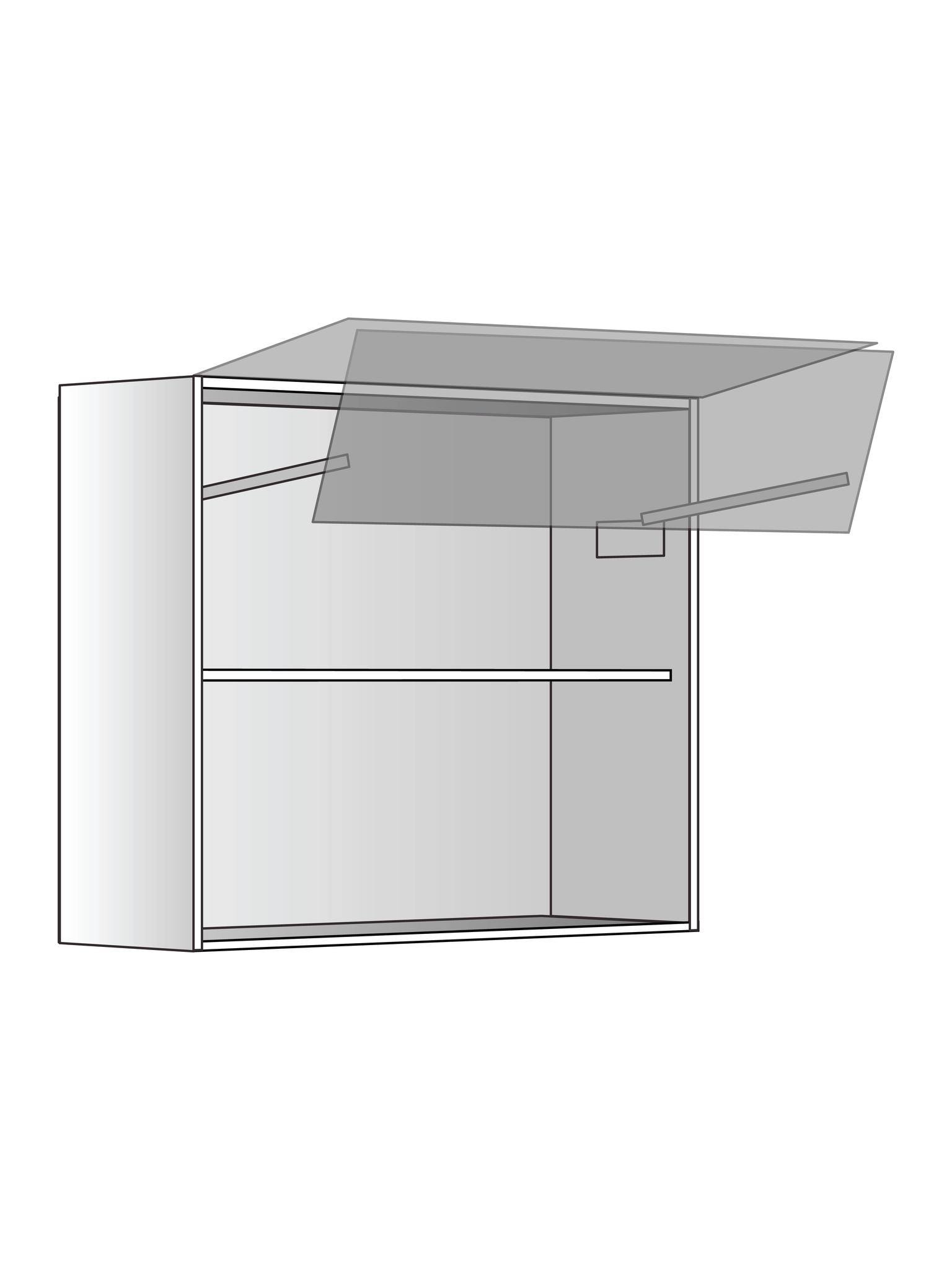 Верхний шкаф c полкой и подъемником, 720Х800 мм