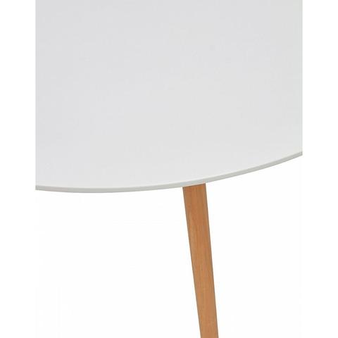 Стол DAISY D100 Белый / массив бука / круглый / 100 см