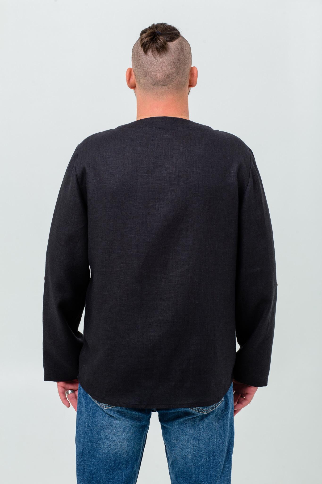 Льняная славянская рубашка Черноморская