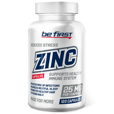 Be first Zinc, 120 капсул