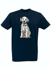 Футболка с принтом Собака (Dog) темно-синяя 0010