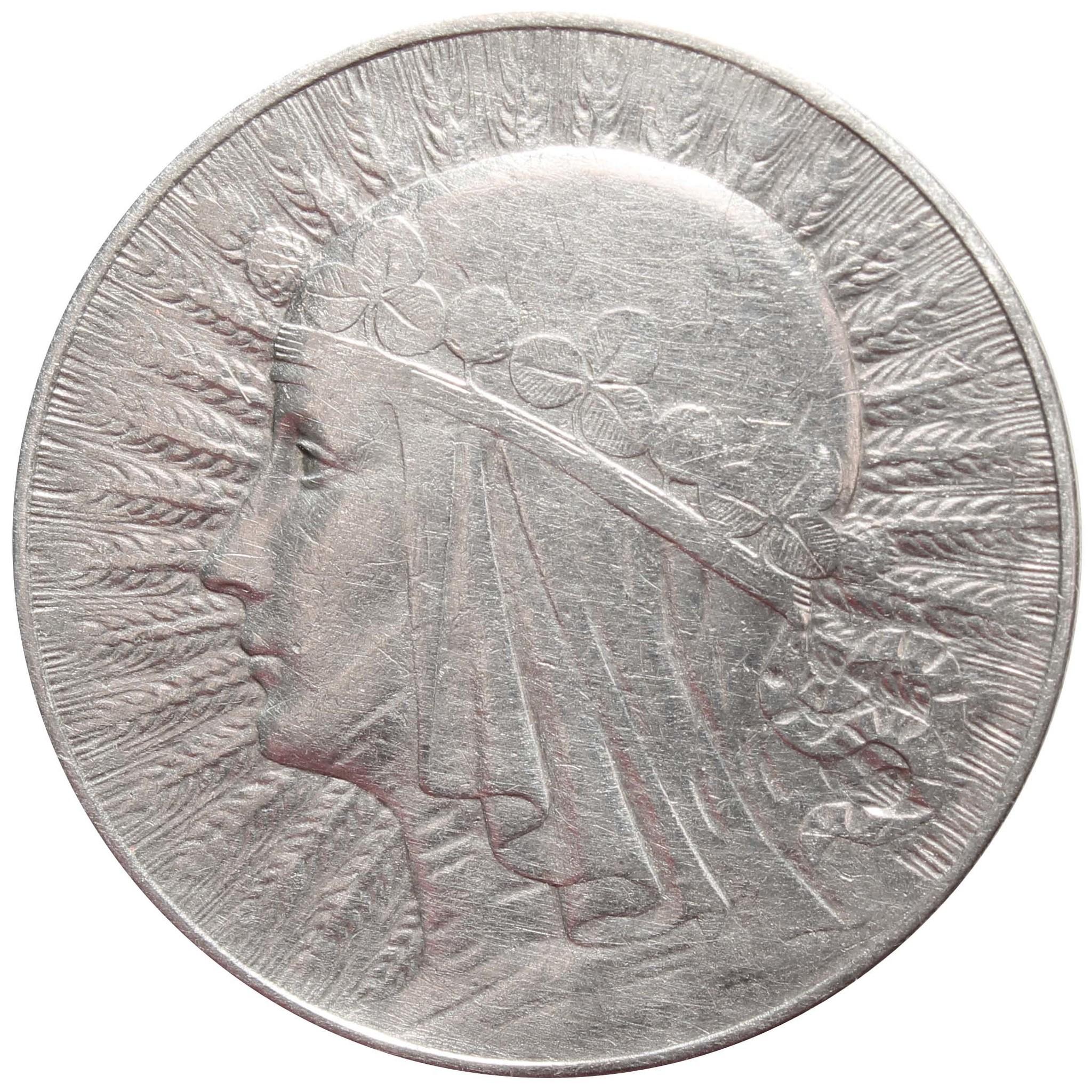 5 злотых Польша Ядвига 1933 год VF+