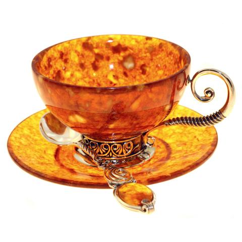 Чайный набор «Антик» из янтаря