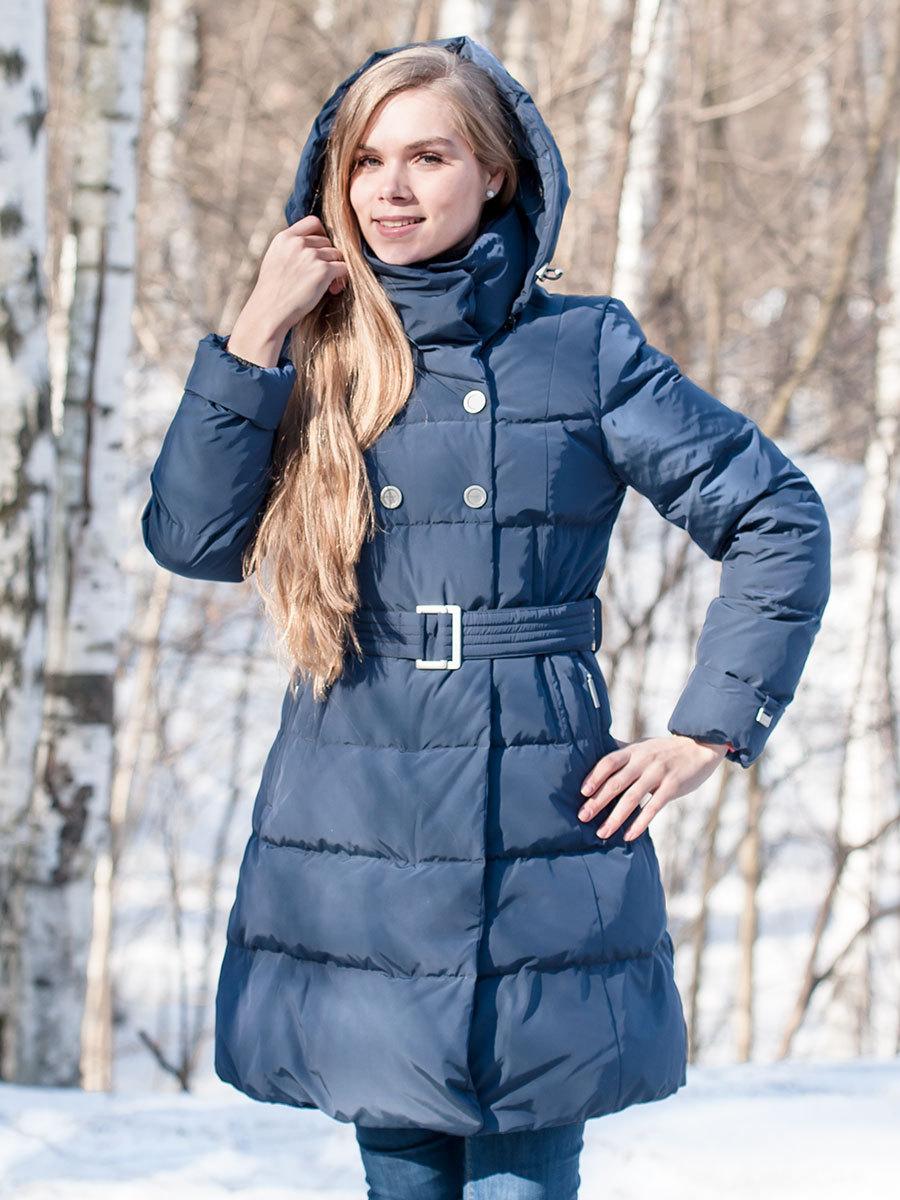 Joutsen пуховик Natalia темно-синий - Фото 1