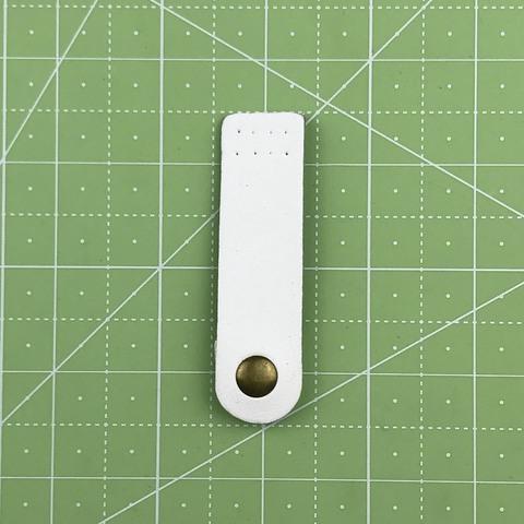 Ремешок для кошелька на кнопке 7,5 см. (Белый)