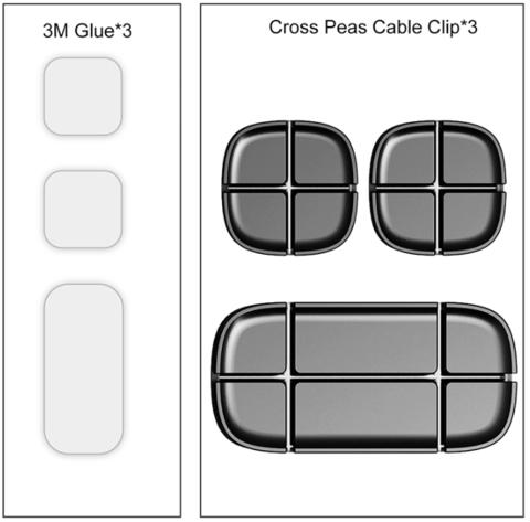 Держатель для проводов Baseus Cross Peas Cable Clip ACTDJ-01 (Black)
