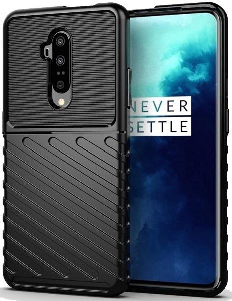 Чехол OnePlus 7T Pro цвет Black (черный), серия Onyx, Caseport