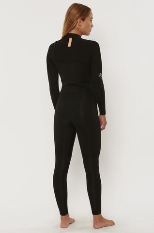 7 Seas 3/2 Chest Zip Full Suit Black
