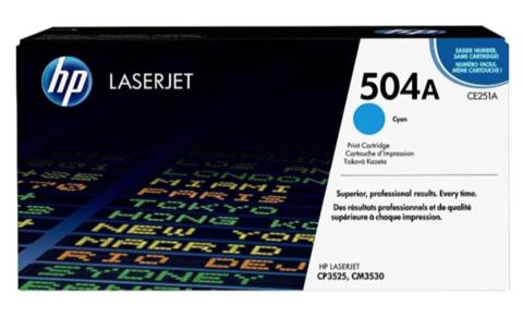 Оригинальный картридж HP CE251A 504A голубой