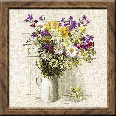 Набор для вышивания крестом «Полевые цветы» (924)