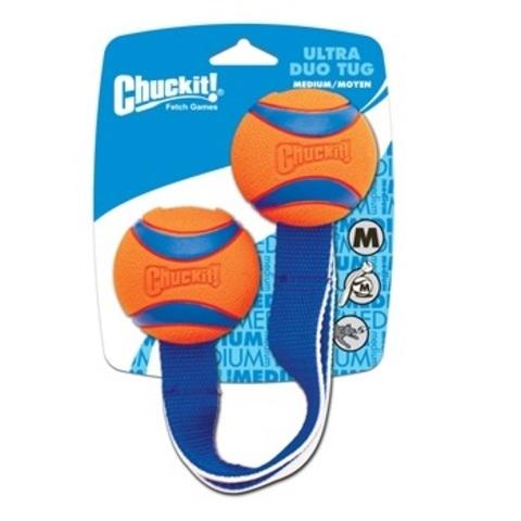 Игрушка д/собак - Перетяжка - 2 Теннисных мяча Ультра, резина, средняя.  CHUCKIT! ULTRA DUO TUG MEDIUM