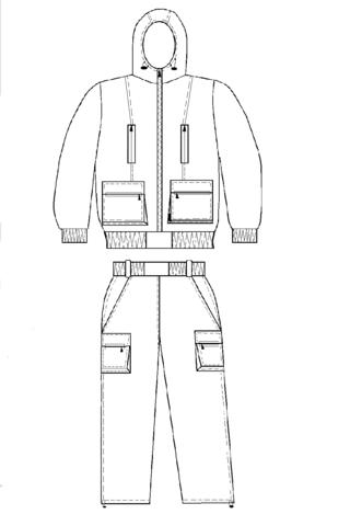 Костюм Барс летний (ткань Твил 736)