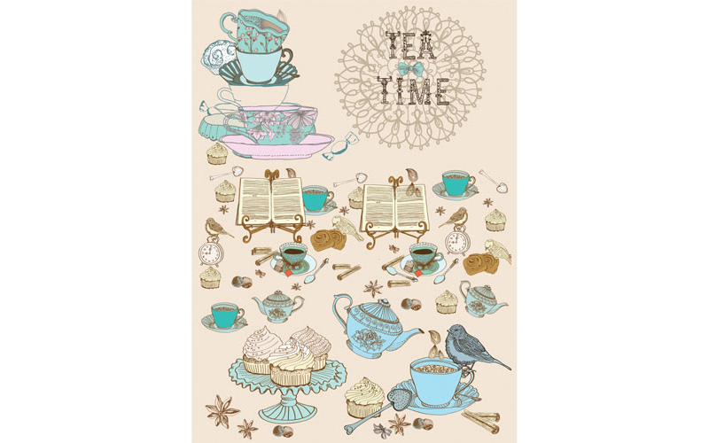 Рисовая бумага для декупажа Время чая, А3