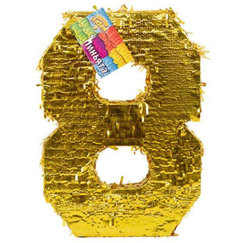 Пиньята Цифра 8 Золото
