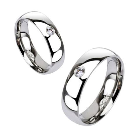 Обручальные кольца с цирконом SPIKES R011-6