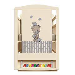 Детская кроватка с маятником и ящиком Camerette