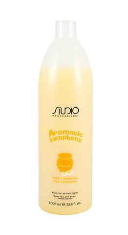 Бальзам для всех типов волос Мед и ромашка,Kapous Aromatic,1000 мл