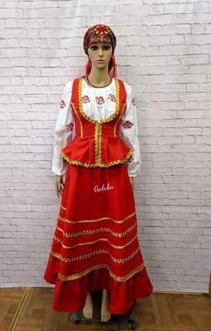 Казачий женский костюм , тройка