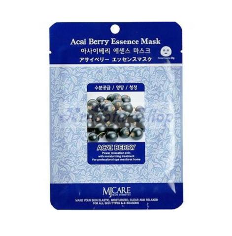 Тканевая маска для лица с экстрактом ягод асаи Mijin care Acai Berry Essence Mask
