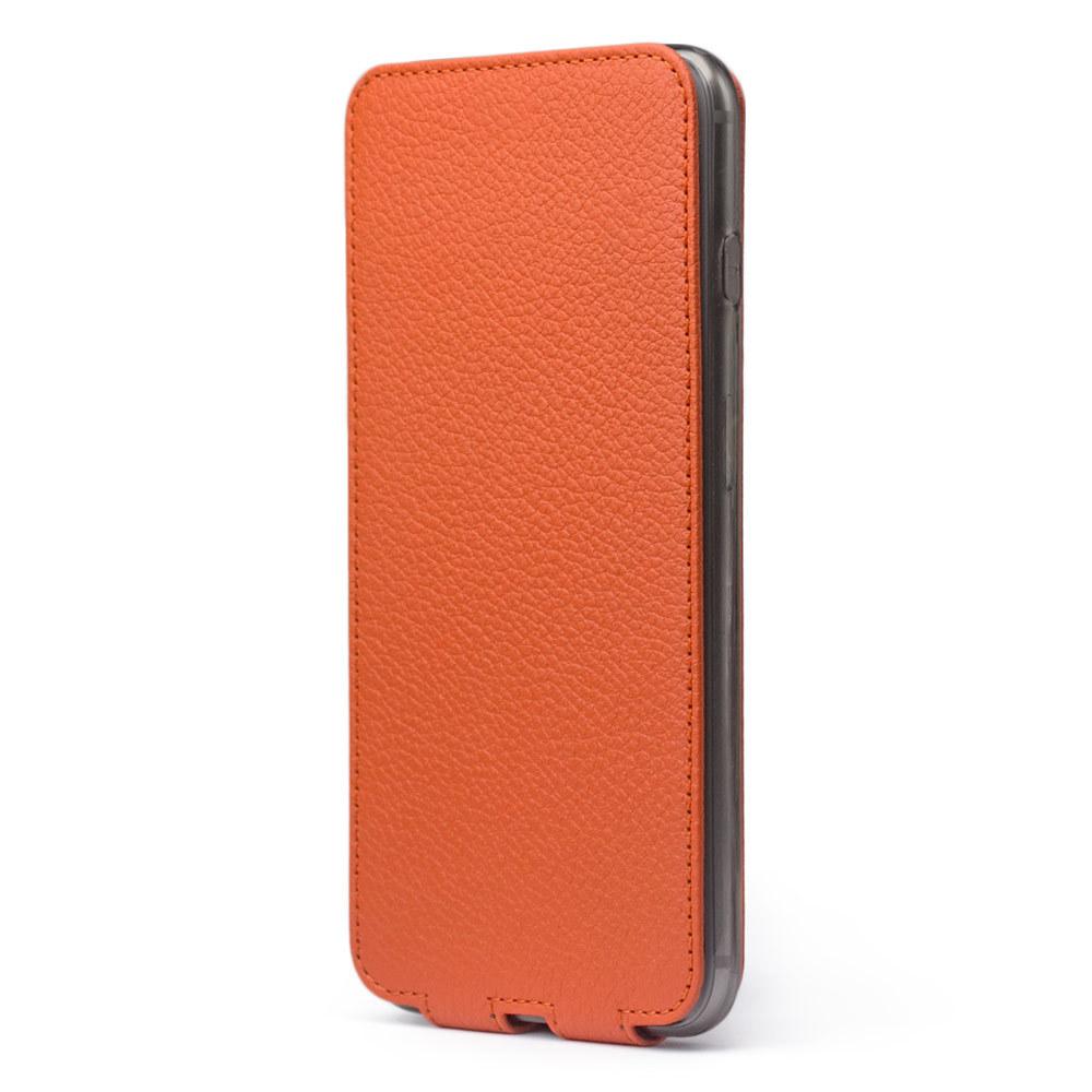 Чехол для iPhone 7 Plus из натуральной кожи теленка, оранжевого цвета