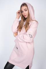 розовое худи с капюшоном nadya