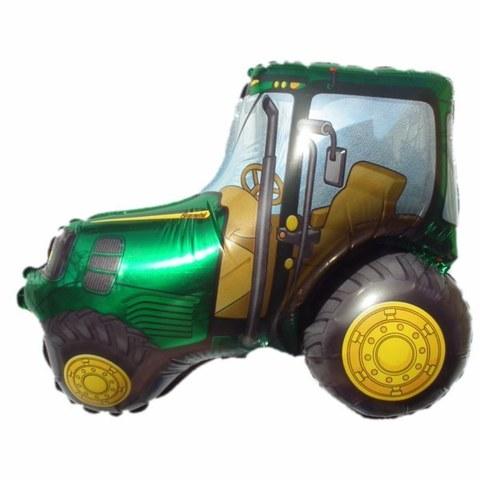 Фольгированный шар «Трактор» зеленый, 94 см