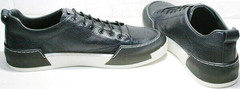 Модные кеды кроссовки мужские модные весна осень Luciano Bellini C6401 TK Blue.