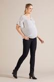 Джинсы для беременных (SLIM) 09792 темно-синий