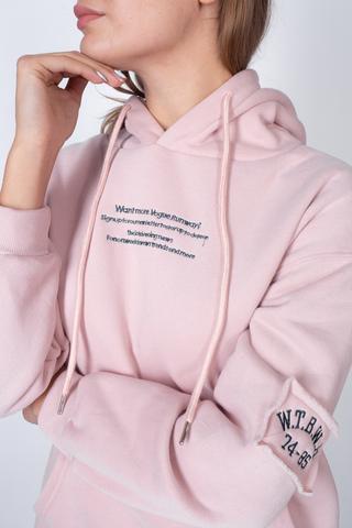 розовое худи с капюшоном интернет-магазин