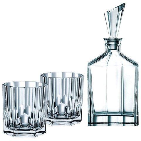 ASPEN - Набор 3 предмета для виски: декантер + 2 стакана