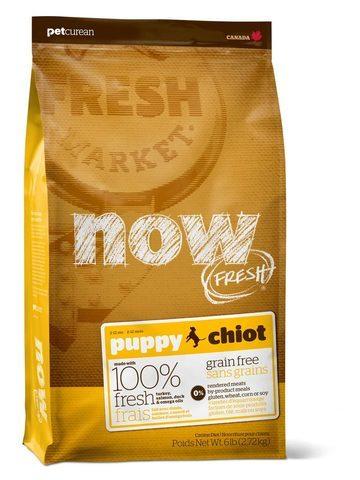 купить Now Fresh puppy all breeds recipe grain free сухой беззерновой корм для щенков с индейкой, уткой и овощами