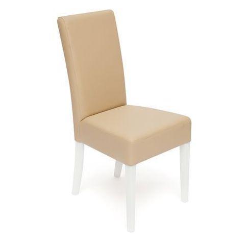 Стул обеденный Diana (Диана) деревянный с мягким сиденьем белый, бежевый